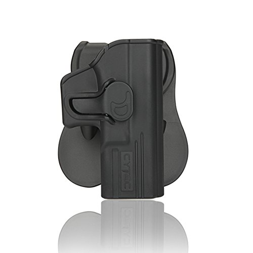 PADDLE LEATHER HOLSTER FOR GLOCK 27 OWB PADDLE ADJUSTABLE CANT.